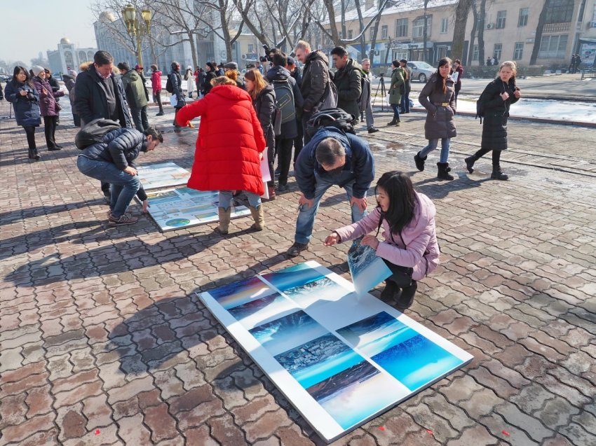 В Бишкеке  прошла уже вторая акция-выставка #БишкекСмог.